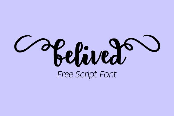Belived Script Free Font