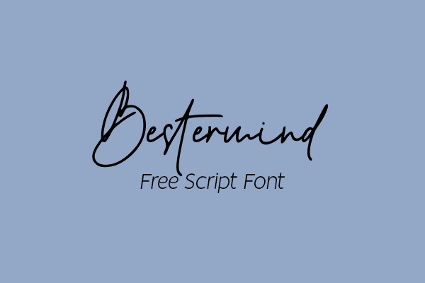 Bestermind Signature Script Free Font