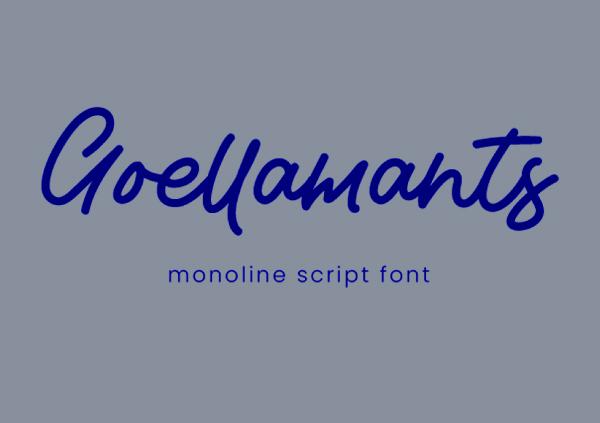 Goellamants Monoline Script Free Font