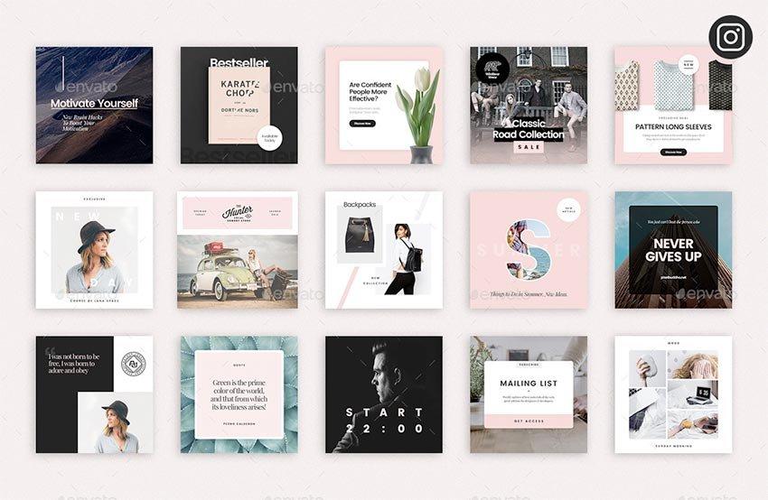 Social Media Booster Kit 4: Instagram, Twitter & Facebook Templates