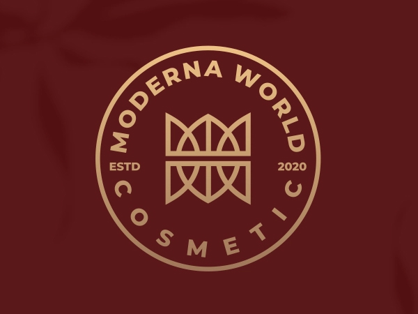 Modern World Cosmetic Logo Design by alesha design  Free Font