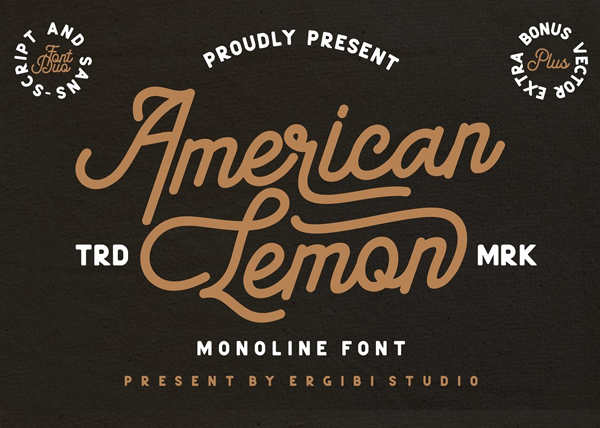 American Lemon Font Duo Free Logo Font