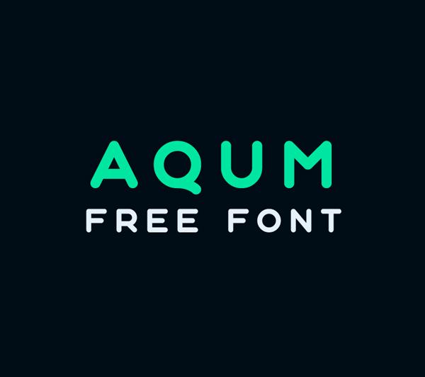 Aqum Geometric Free Logo Font