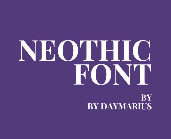 Neothic Free Logo Font