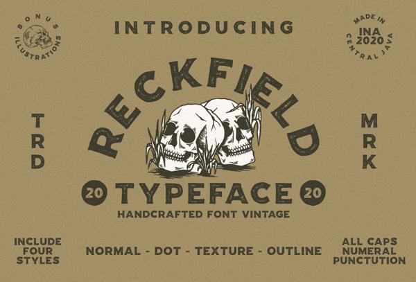 Reckfield Rough Free Logo Font