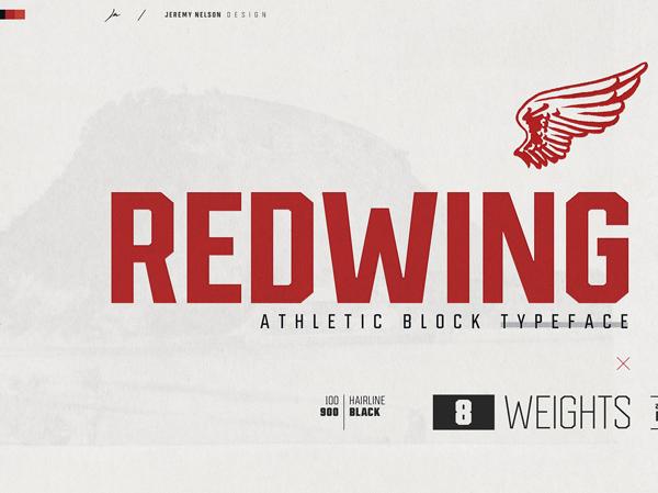 Redwing Free Logo Font