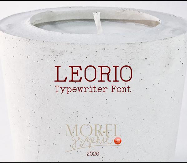 Leorio Free Logo Font