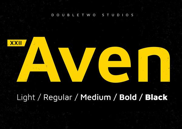 XXII Aven Free Logo Font
