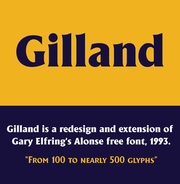 Gilland Free Logo Font