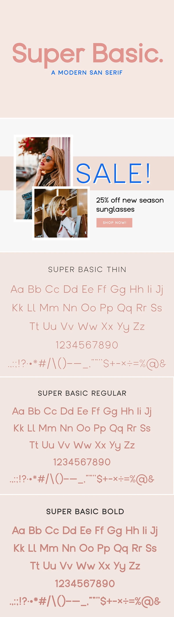 Super Basic - A Modern San Serif Free Font