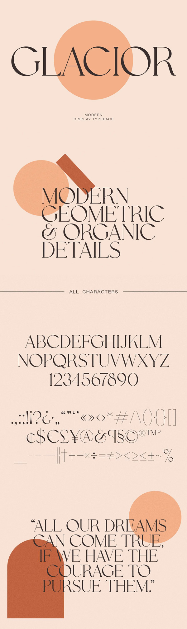 Glacior - Modern Display Serif Font Free Font