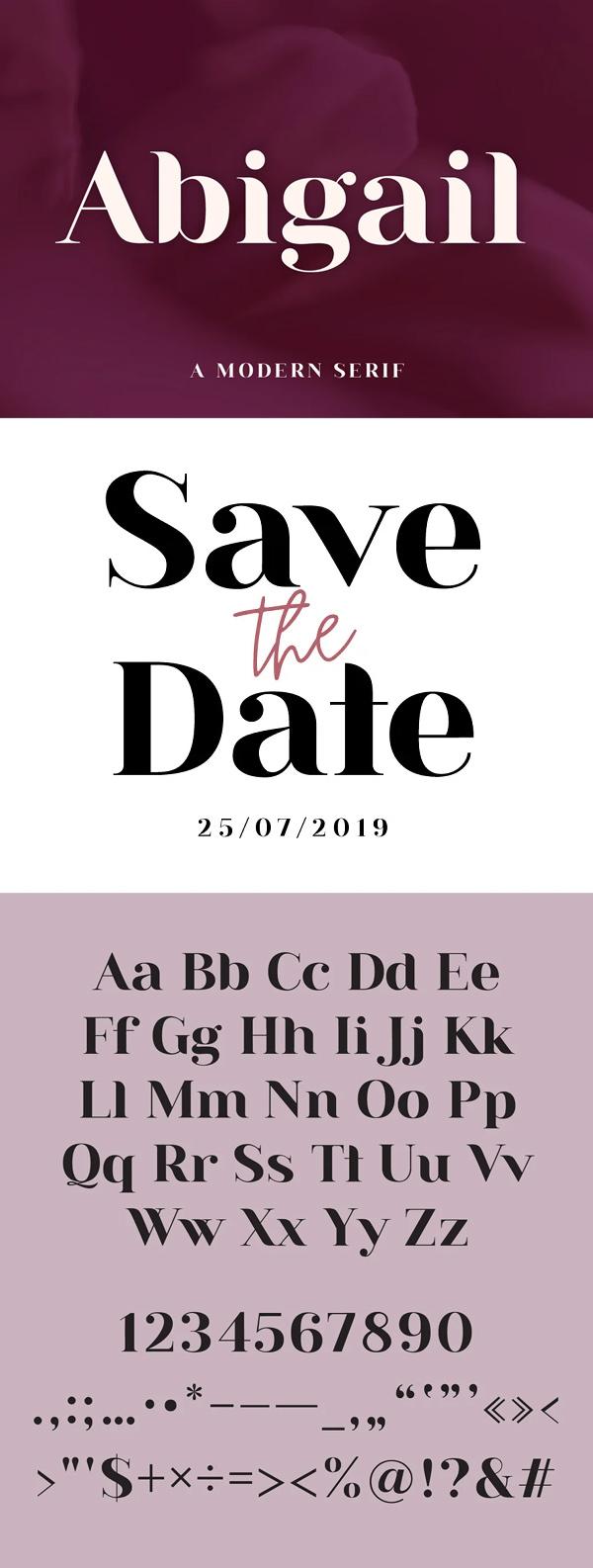 Abigail - A Modern Serif Free Font