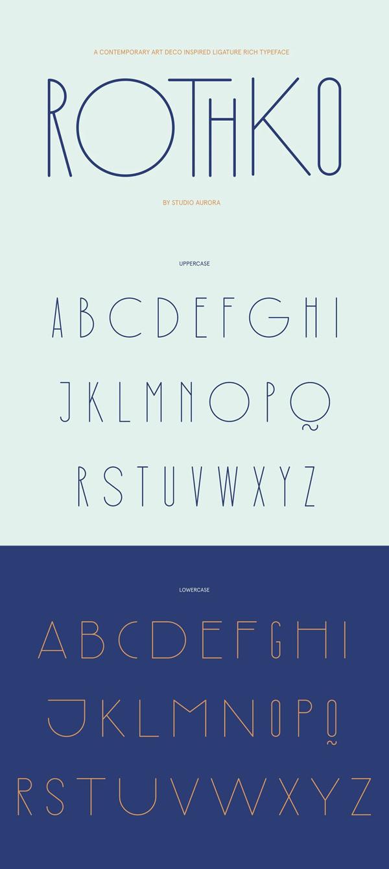 Rothko Modern Art Deco Display Font Free Font