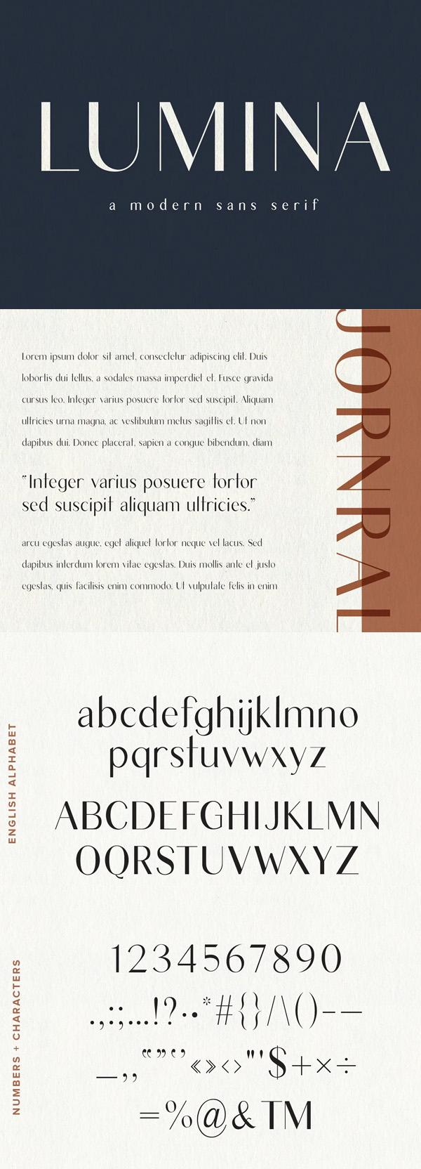 Lumina - Modern Sans Serif Free Font