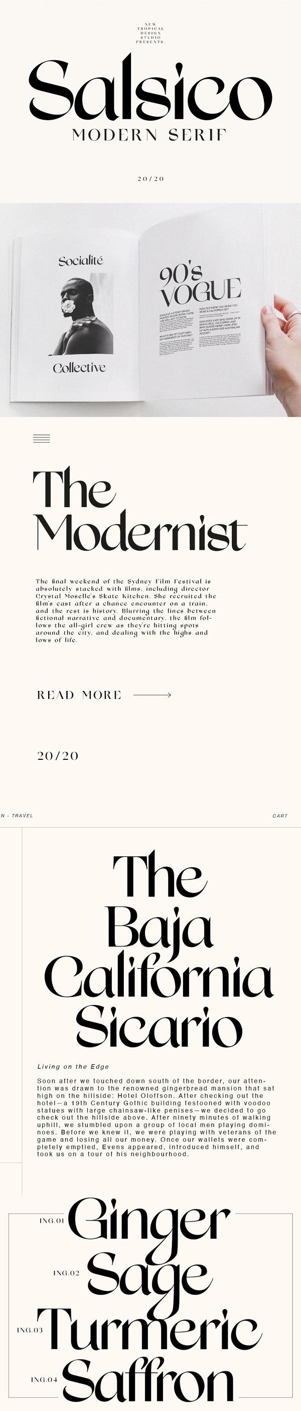 Salsico - Modern Font Free Font