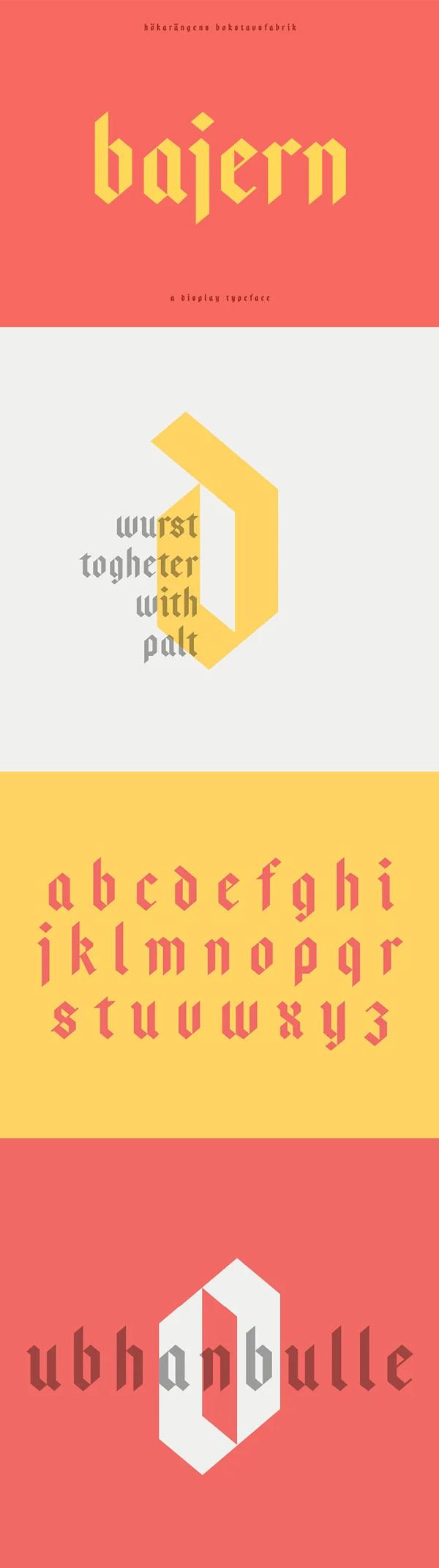 Bajern - A modern fraktur Free Font