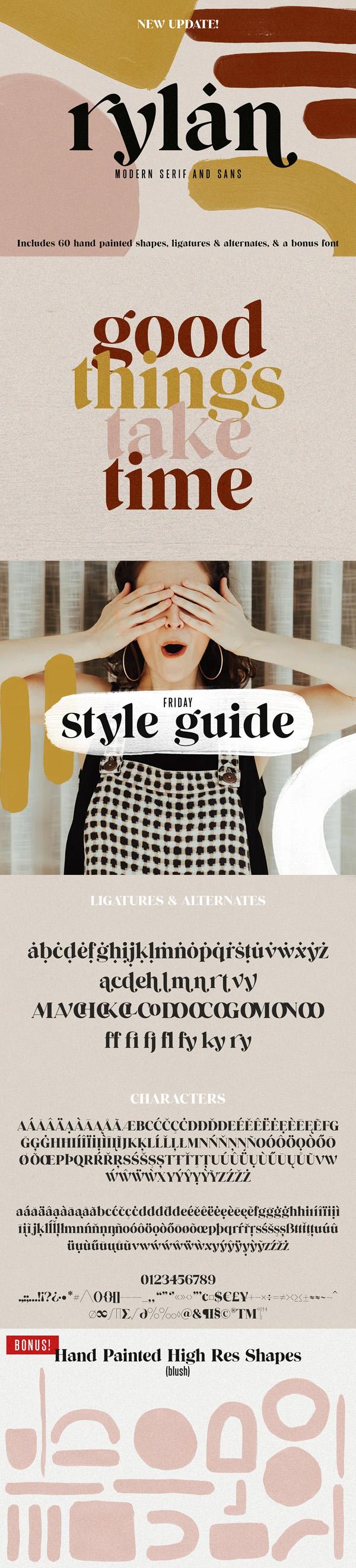 Rylan Modern Serif + Extras Free Font