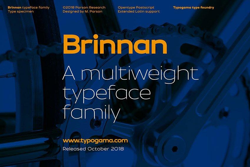 Brinnan Sans Serif Font
