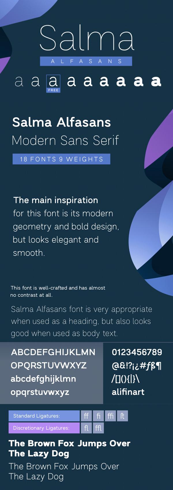 Salma Sans Serif Free Font