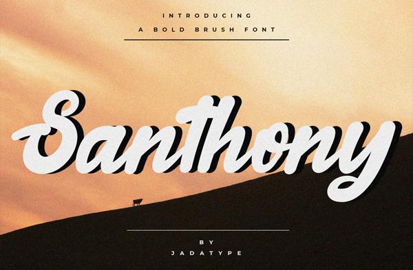 Santhony Bold Brush Free Font