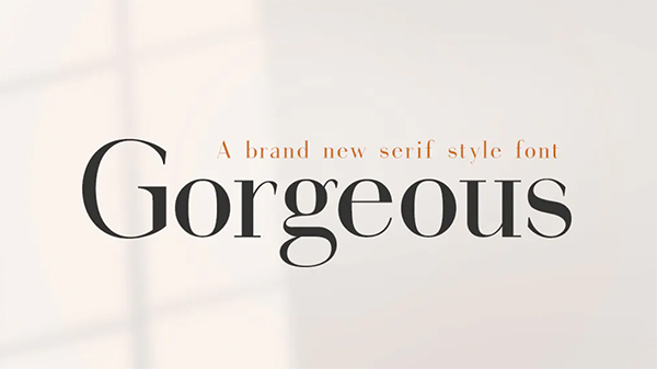 Gorgeous Serif Free Logo Font