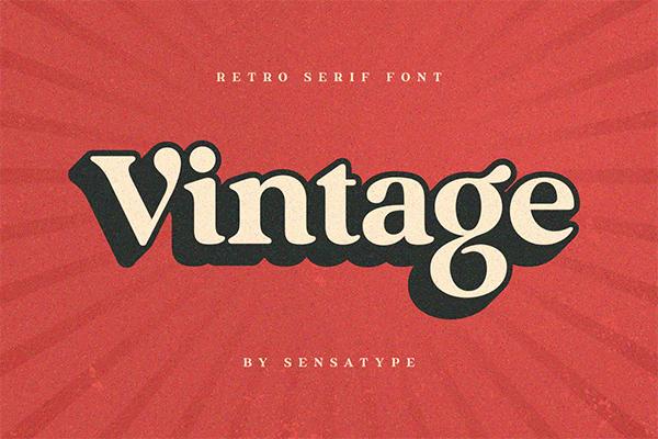 Vintage Free Logo Font