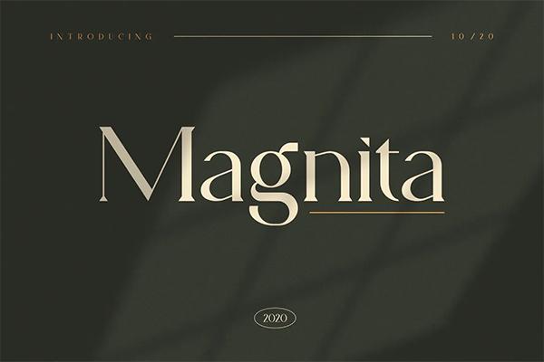 Magnita Serif Free Logo Font