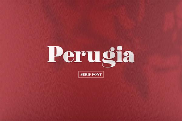 Perugia Free Logo Font