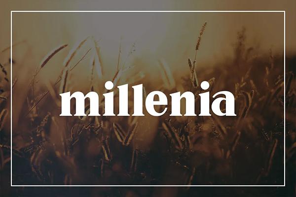 Millenia Free Logo Font