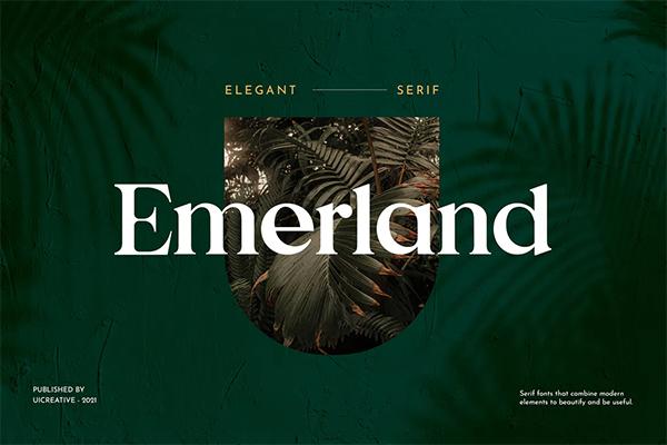Emerland Free Logo Font