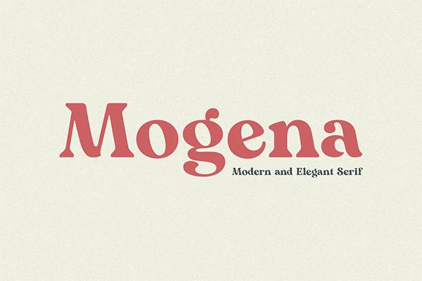 Mogena Free Logo Font