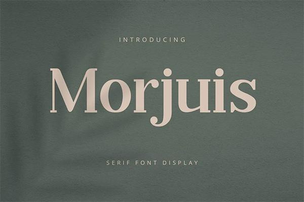 Morjuis Free Logo Font