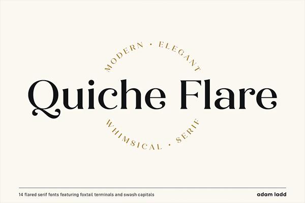 Quiche Flare Free Logo Font