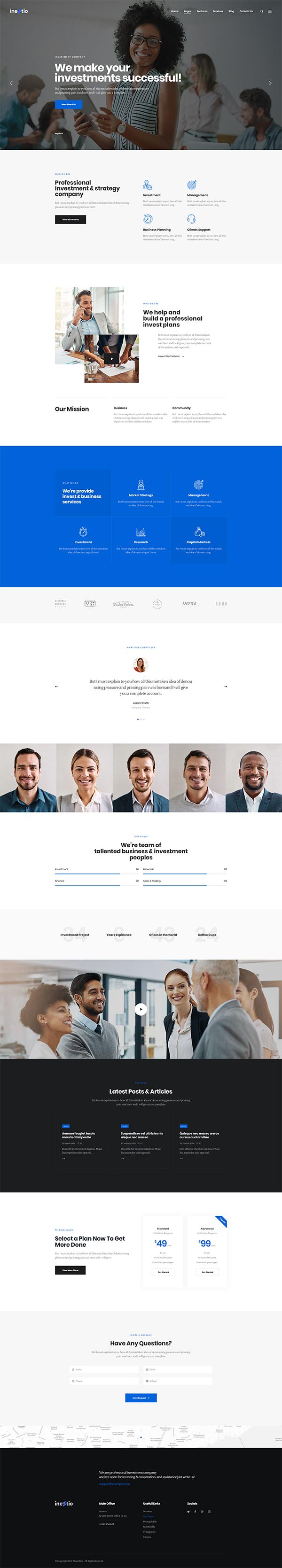 Inestio - Business & Creative WordPress Theme