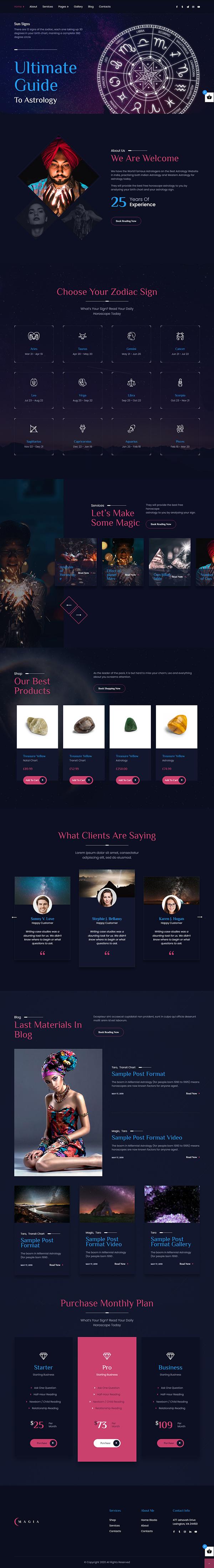 Magia - Astrologist WordPress Theme