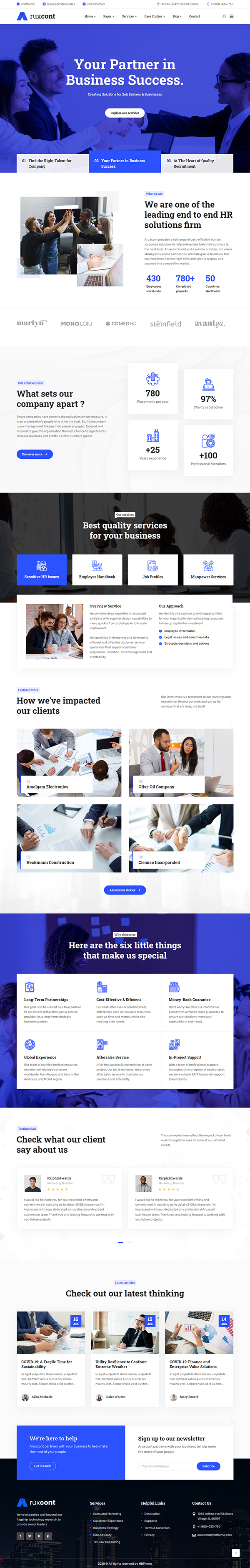 Aruxcont - Business Consulting WordPress Theme