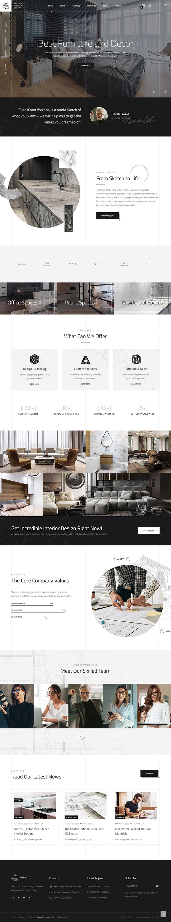 Theratio - Architecture & Interior Design Elementor WordPress Theme