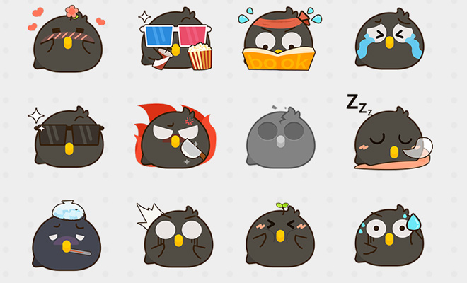 black dark crow emoticons emoji