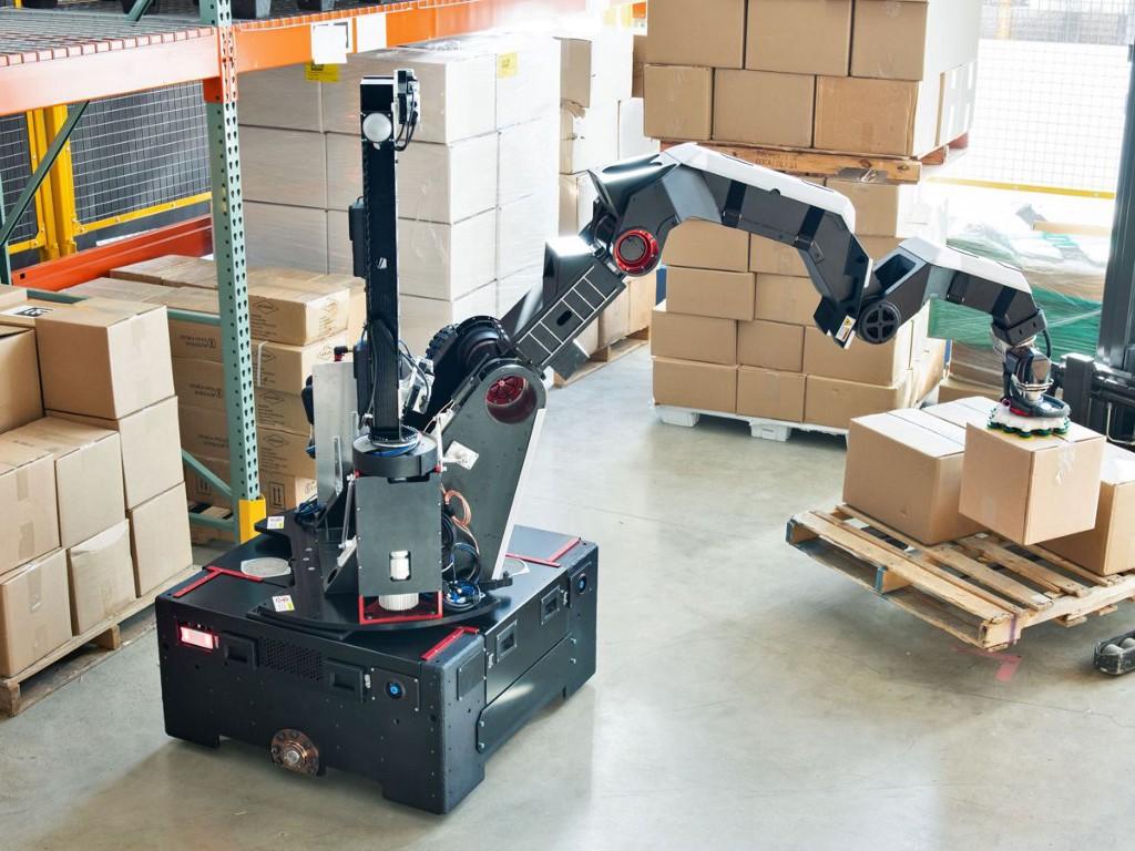 Boston Dynamics' Stretch, a modern warehouse robot.
