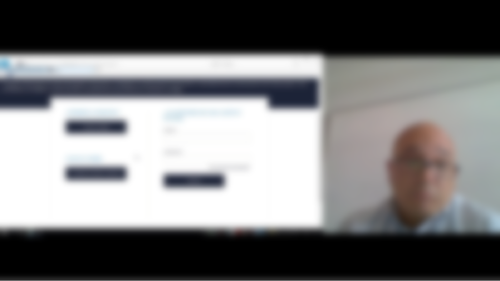 On the left a screen capture, on the right the face of the user.