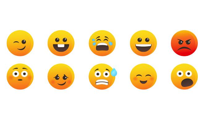 orange yellow icon set smilies
