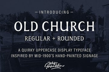 Old Church - Serif Display Font