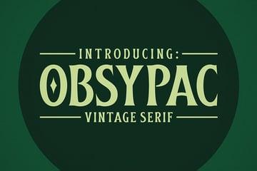 Obsypac Font