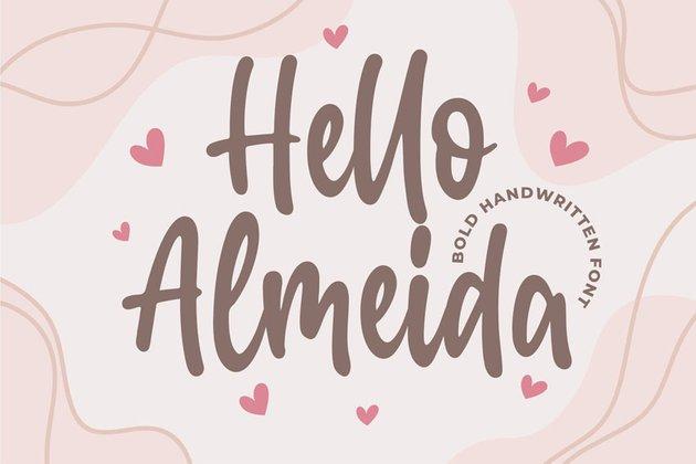 Hello Almeida a Bold Handwritten Font