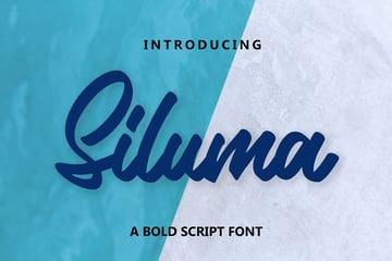 Siluma - A Bold Script