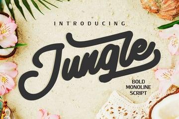 Jungle | Monoline Bold Script
