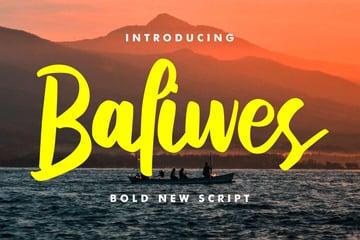 Baliwes Bold New Script Font