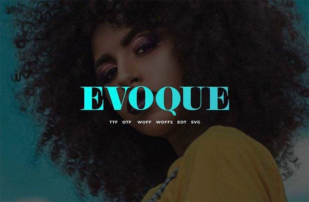 Evoque : vintage serif font family