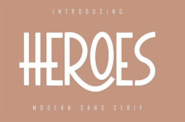 HEROES Sans Serif