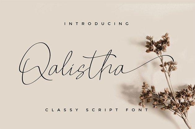 Qalistha YP Script Font